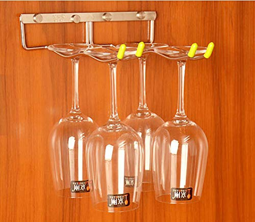 LINEX Hanging Wine Glass Rack 3 Rows 304-Stainless Steel Wave Stemware Holder Metal Wall-Mounted Wine Glass Hanger For Home,Bar Club (Silver 3 Row) (13.2''X13.3''X2'')