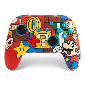 PowerA Enhanced Wireless Controller for Nintendo Switch – Mario Pop Nintendo Switch Lite, Gamepad, Game Controller…