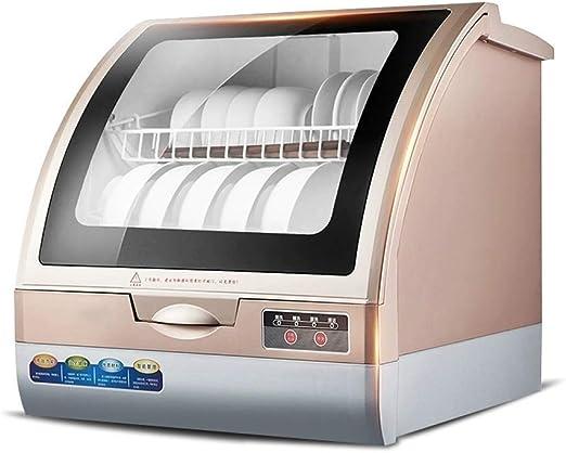 Amazon Com Dwlxsh Lavadora De Platos Compacto Para Cocina Pequeña Oficina Y Hogar 6 Plazas 4 Programas Limpieza A Alta Temperatura De 70 Home Kitchen