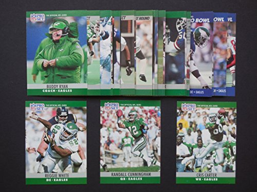 Philadelphia Eagles 1990 Pro Set Football Master Team Set * Includes all cards from series 1, series 2 and the...
