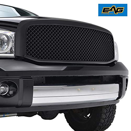 EAG Replacement Upper Grille Mesh ABS Grill Fit for 06-08 Dodge Ram 1500/06-09 Ram 2500/3500
