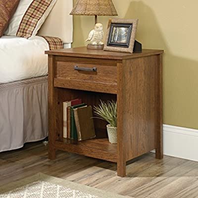 Sauder Cannery Bridge Nightstand - Dimensions: 22.13W x 17.5D x 25.75H in. Wood and engineered wood construction Milled Cherry finish - bedroom-furniture, nightstands, bedroom - 51fJoQIOEJL. SS400  -