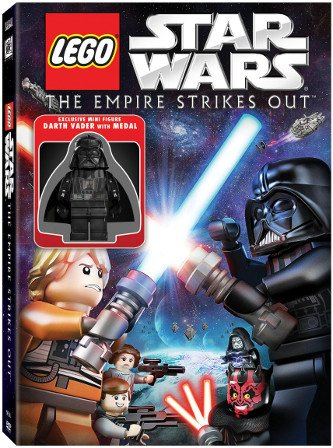- LEGO STAR WARS The Empire Strikes Out DVD With Exclusive Minifigure DARTH VADER with MEDAL