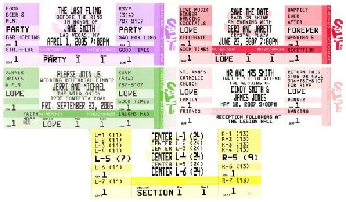 Custom Concert Tickets, Blue