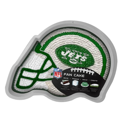 NFL New York Jets Fan Cakes Heat Resistant CPET Plastic Cake (Ny Jets Cake)