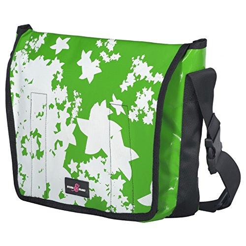 Sturm & Drang - Maxi borsa messenger bag a tracolla in tela cerata - Borsa università large