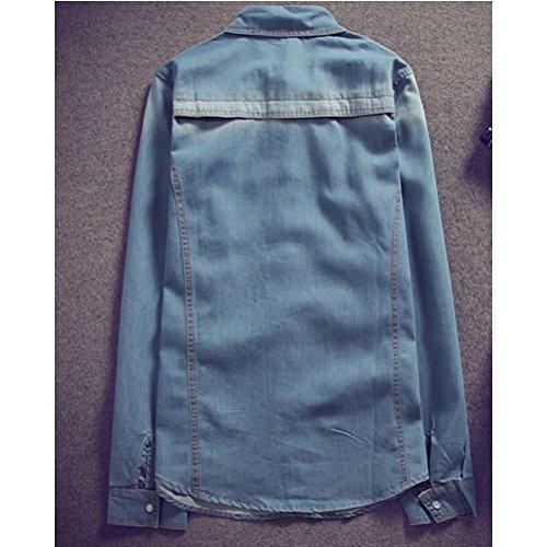 Jacket Soft Quality Mens Casual Zhuhaitf Outerwear Denim High Size suave Tops Plus FwZ5YZtxIq