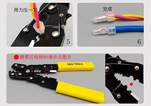 10/Comprend 230/connecteur terminal kit Nuzamas Pince /à sertir Pince c/âble Outil de coupe fil 0,5/~ 6.0/mm AWG 23