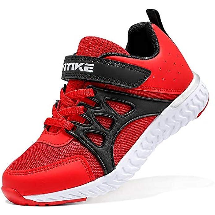 WETIKE Kids Shoes Slip-on Shoes for Boys Girls Athletic Tennis Running Walking School Sneakers Adjustable Strap