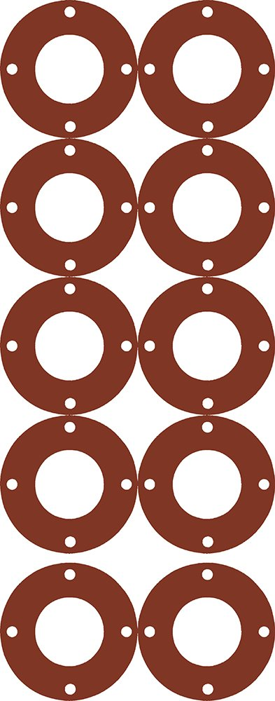 Sterling Seal CFF7175.500.031.150 7175 50-60 Durometer Full Face Gasket Pack of 10 1//2 Pipe Size Polymer//Polydimethysiloxane//Silicone Pressure Class 150# 1//32 Thick 0.84 ID