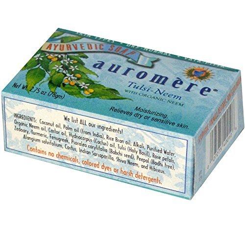 Auromere tulsi-neem bar soap 6 2.75 oz