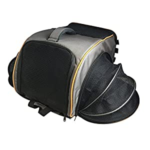 Pet Magasin Travel Backpack [Airline Approved] Heavy Duty All-In-One Carrier with Mesh Window for Cats, Small Dogs & Other Animals