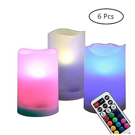 CMXX 6 Piezas Lámparas De Luz LED Funciona con Pilas Velas ...