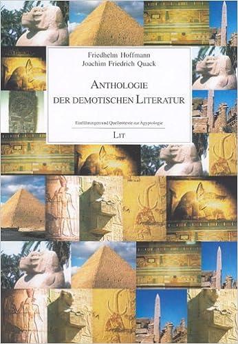 Book Anthologie der demotischen Literatur