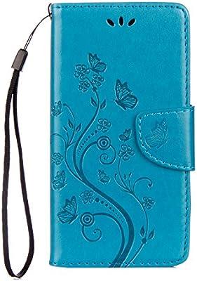 Para BQ Aquaris X Smartphone PU Caja de cuero de la cartera ...