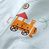 pureborn Toddler Baby Boy Cotton Cartoon Train Vest Spring Autumn Waistcoat Mint 2-3 Years