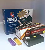 Premier Supermatic Cigarette Rolling Machine+ FREE Shargio tubes, Case & lighters