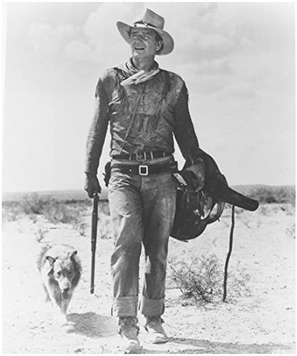 B00TUK8YDG The Duke John Wayne as Hondo Lane Walking with Dog and Gun 8 x 10 Photo 51fJrUD2BpKL