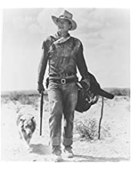 The Duke John Wayne as Hondo Lane Walking with Dog and Gun 8 x 10 Photo