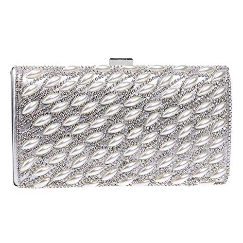 Bags Silver Wallet Handbags Chain Evening Party Womens Clutches Purse For Bead Elegant qYP05w65