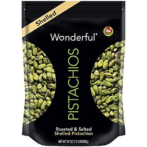 Wonderful Shelled Pistachios (24 oz.) (pack of 6)