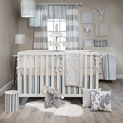 Luna 4 Piece Crib Bedding Set with Bumper