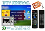 IPTV Subscription HTV HTV3 HTV5 A1 A2 Brazil Box A2 IPTVKINGS IPTV5+ IPTV6 IPTV6+ Tigre Tiger Brazilian One 1 Renew Code with Back Light Fly Mouse