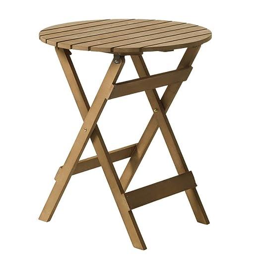 Mesas de café Mesa de Madera Plegable Redonda Mesa de Comedor ...