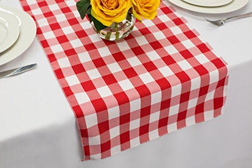 Gingham Table Runner (Polyester Wedding Table Runner 14