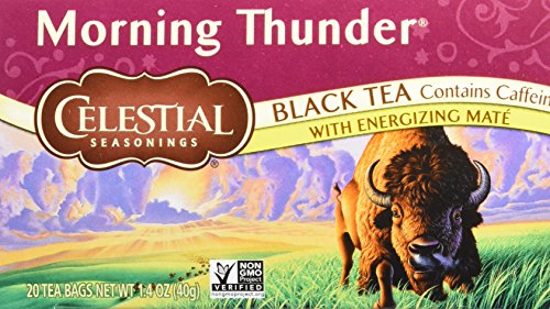 Celestial Seasonings Black Tea Morning Thunder, 20-count (Pack of 6)