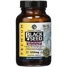 Amazing Herbs Premium Black Seed Oil Soft-Gels, 60 Count
