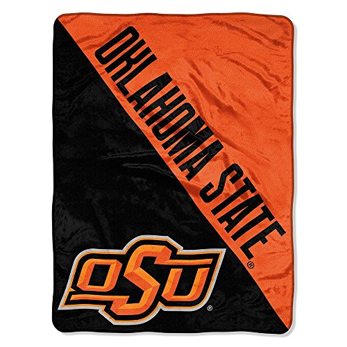 The Northwest Company Officially Licensed NCAA Oklahoma State Cowboys Halftone Micro Raschel Throw Blanket, 46