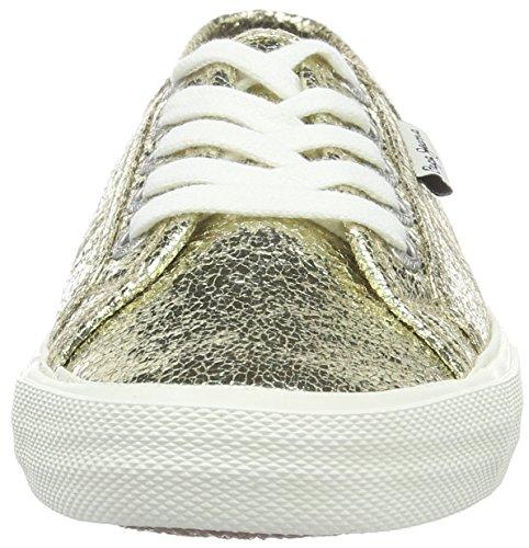 Pepe Jeans Aberlady Crackle - Zapatillas de deporte Mujer Dorado - Or (099Gold)