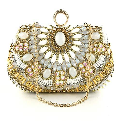 Strass Main Bracelet Femmes Perles De Gshe en À Bag avec Sacs Chaîne en Soirée De Embrayage Sacs 4n78wp