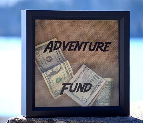Adventure Fund Box - Travel Fund - Travel Money Box - Money Box - Savings Box - Holiday Fund - Personalized Drop Box - Honeymoon Fund Box from Country Barn Babe