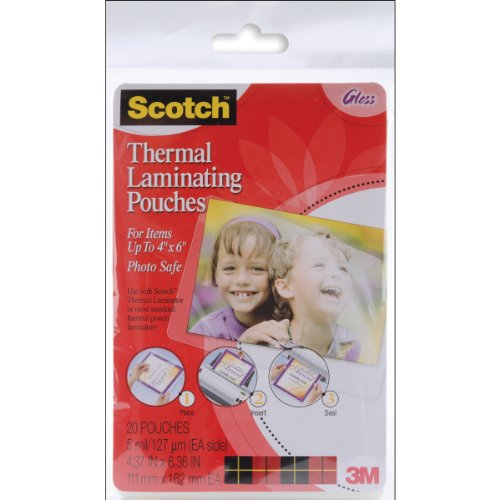 "3m Tp5900-20 4"" X 6"" Laminating Pouch 20 Count"