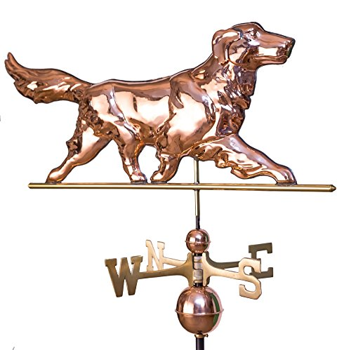 East Coast Weathervanes and Cupolas Golden Retriever Weathervane Polished -