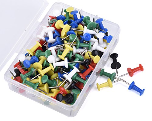 Push Pins, JoyFamily Thumb Tacks Used on Cork Boards or Maps, Pack of 150PCS(Assorted Colors)
