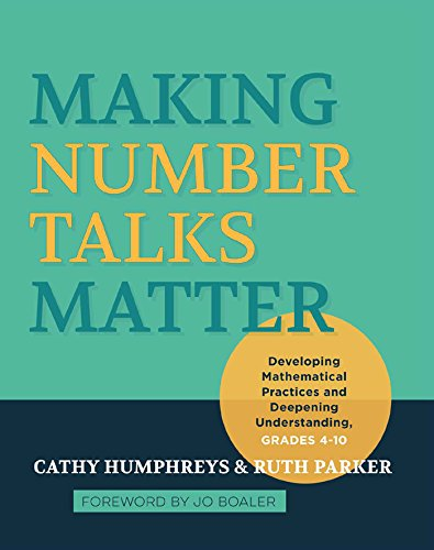 Making Number Talks Matter Pdf