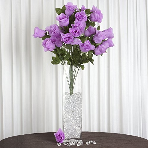 BalsaCircle 96 Lavender Silk Peach Blossoms Stems - 4 bushes - Artificial Flowers Wedding Party Centerpieces Arrangements Bouquets