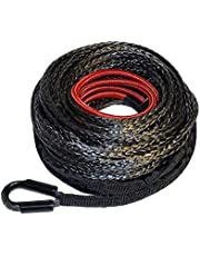 """Ranger 7,500 LBs 1/4"""" x 50' UHMWPE Synthetic Winch Rope 6 MM x 15 M for UTV/ATV Winch"""
