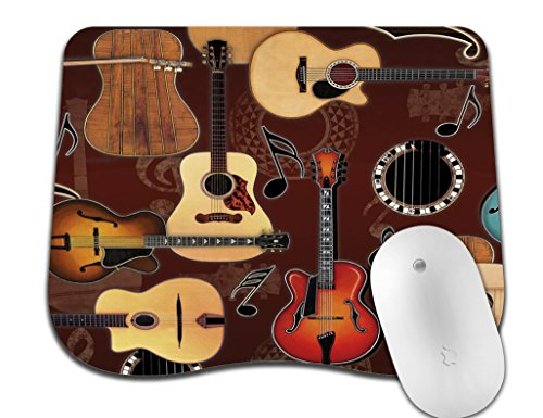 (Abili Gaming Mouse Pad Custom, Enjoying Guitar Bringing Wonderful Music with New Design Curve Mouse Pads for Computers Laptop Office -Durable & Comfortable Non-Slip Rubber Mouse Mat Mousepad)