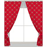 Arsenal FC Crest 66' x 72' Curtains + Blackout Curtain Lining