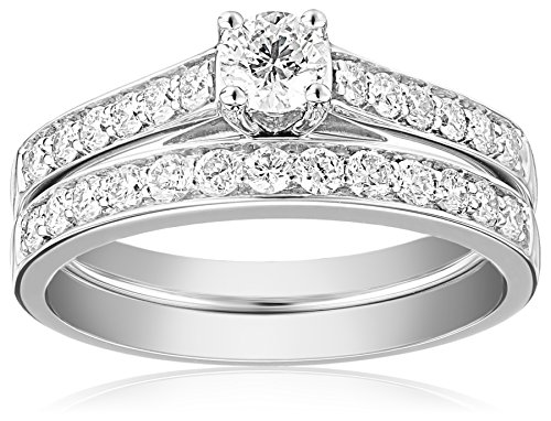14k White Gold Diamond Bridal Ring Set (1cttw, H-I Color, I1-I2 Clarity)