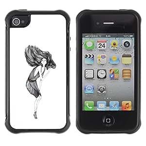 Suave TPU GEL Carcasa Funda Silicona Blando Estuche Caso de protección (para) Apple Iphone 4 / 4S / CECELL Phone case / / simple get down /