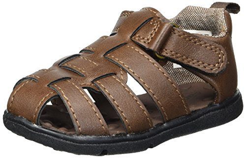 Carter's Every Step Sailor Baby Boy's Fisherman Sandal, Brown, 4 M US Toddler
