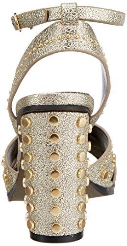 Sandali 0566 Donna Pu Alla Caviglia Cinturino Con 316 Leather Buffalo Oro 01 gold 1 vqxw5aXWH