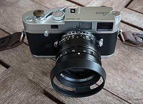 Black XIAOMIN 49mm Metal Vented Lens Hood for Leica Premium Material