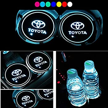 Interior Accessories 2x For Peugeot Car Auto Anti-slip Mat Waterproof Solar Led Light Lamp Cup Holder Mat Pad Bottle Drinks Making Things Convenient For The People Automobiles & Motorcycles