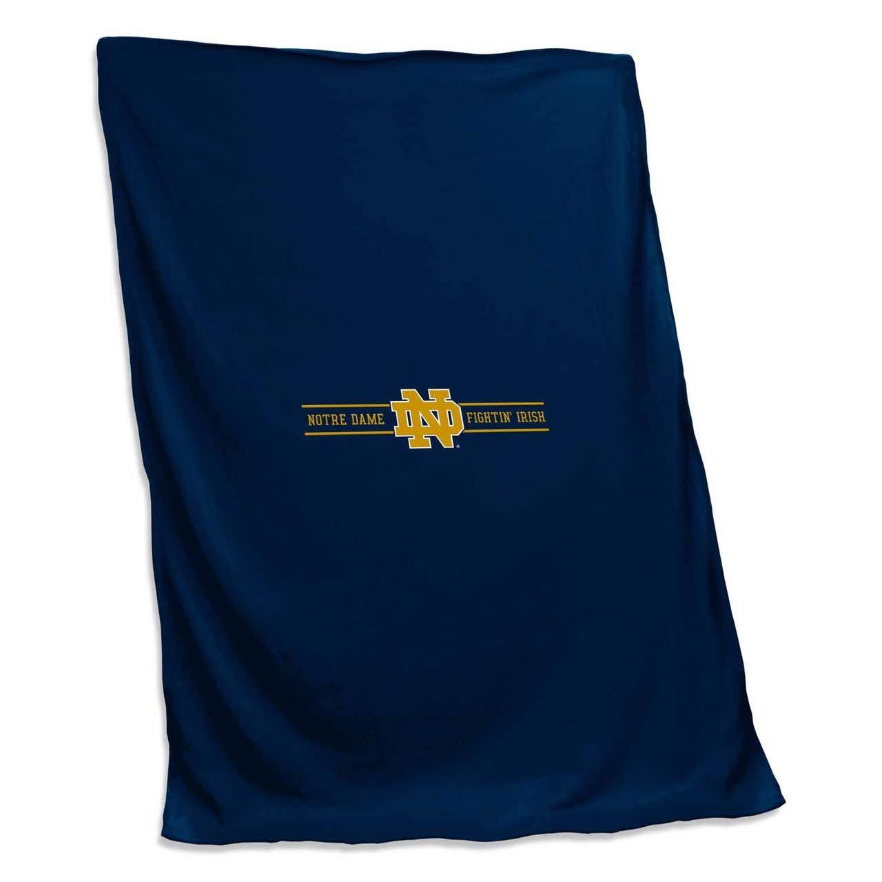 Logo Notre Dame Fighting Irish NCAA 54 X 84 Fleece Sweatshirt Blanket Team Color